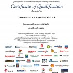 Greenway Shipping AS - Qualified for Achilles JQS