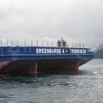 "Arrival North Sea - ""Greenbarge 3 & 4"""