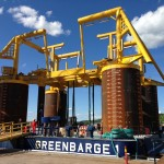 """Greenbarge 1 & 2"" - Arrival North Sea"