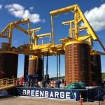"""Greenbarge 1 & 2"" - Arrival North Sea"